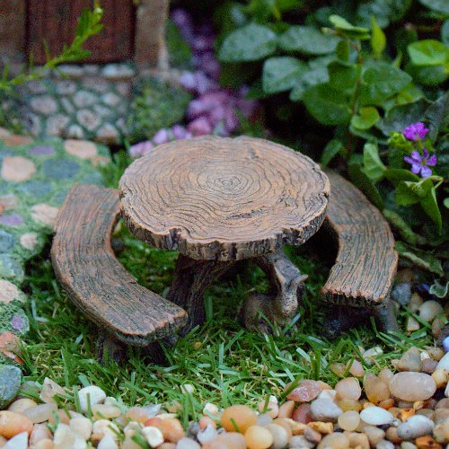 Log table and stools
