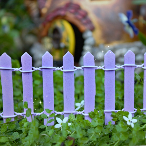 Lavender Picket Fence – Miniature Fairy Garden Accessories