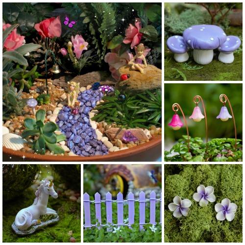 Deluxe Purple Kit – Purple Fairy Garden Kit