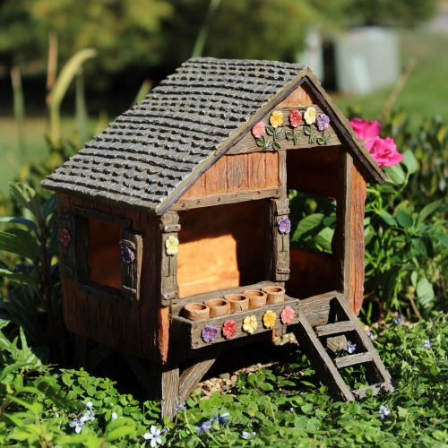Fairies Play House Miniature Fairy House