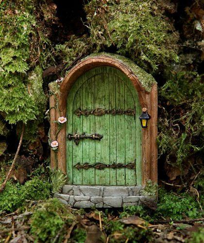 Fairy door round fairy door fairy garden door for Red elf door